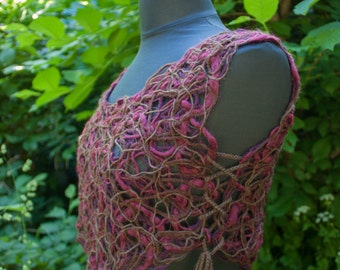 Mossy Forest FaeLace Crop Top :. Adjustable size