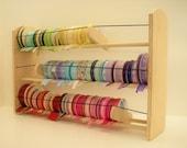 "GSS Ribbon Organizer 24"" Maxi Desk / Wall Unit. Huge Capacity 130 Spools!! EZ load Individual Ribbons! 4 Styles! Elegant & Inspiring!"