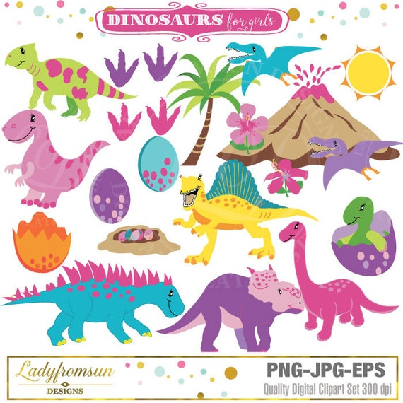free girl dinosaur clipart - photo #42