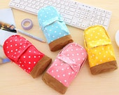 Polka Dot Backpack Pencil Case, Cosmetic Bag, Storage Case