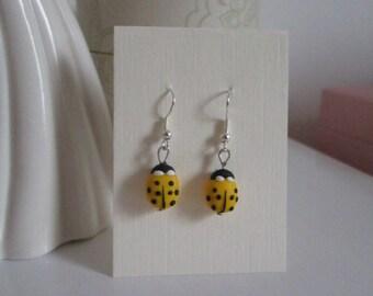 Ladybug Earrings/Dangles in polymer clay