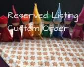 Custom Order: Rainbow Wooden Peg Doll Gnomes, set of 35 assorted colors