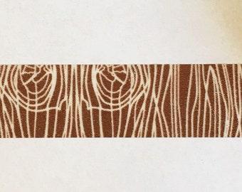 Brown Wood Grain Pattern Washi Tape 15mm
