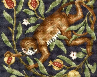 Monkey -Aesop's Fables needlepoint kit (Beth Russell)