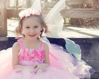Flower girl dress - Tulle flower girl dress -Pink Dress - Tulle dress-Infant/Toddler - Pageant dress - Princess dress - Pink flower dress