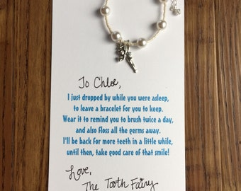 Tooth fairy present-tooth fairy-lost a tooth-children's bracelet