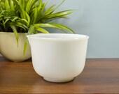 Vintage Milk Glass, Glasbake Bowl, Sunbeam Mixer Bowl, Mid Century Bowl, White Bowl with a Pour Spout, Replacement Bowl