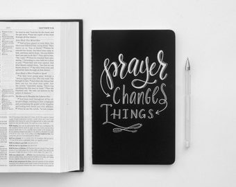 Prayer Journal, Christian gifts, faith journal, Prayer changes things