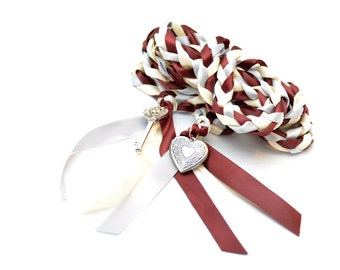 Key to Love  Wedding Handfasting Cord ~  Wine Theme ~ Celtic Handfasting ~ Handfasting Ceremony ~ Tying the Knot ~ Vows