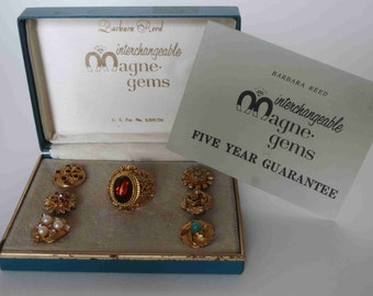 Barbara Reed Interchangeable Rings - Magne-Gems - Original Box