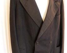51% OFF Antique Double Breasted Men's Tuxedo Coat - Wide Lapel - 44R