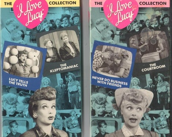 Lot of 2 Preowned I love Lucy VHS Video Tapes, plays great!
