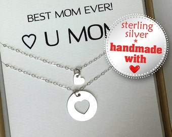 Mother Daughter Necklace. Mother Daughter Jewelry.  Inspirational necklace. mothers day necklace
