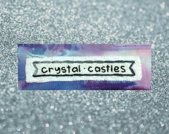 Crystal Castles Patch, Band Patch, Handmade Patch