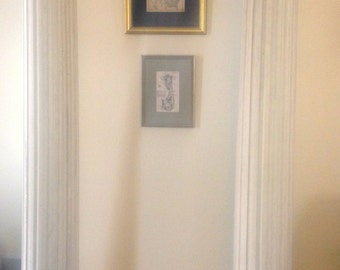 Pair, Early 20th C. Architectural Fluted Wood Columns