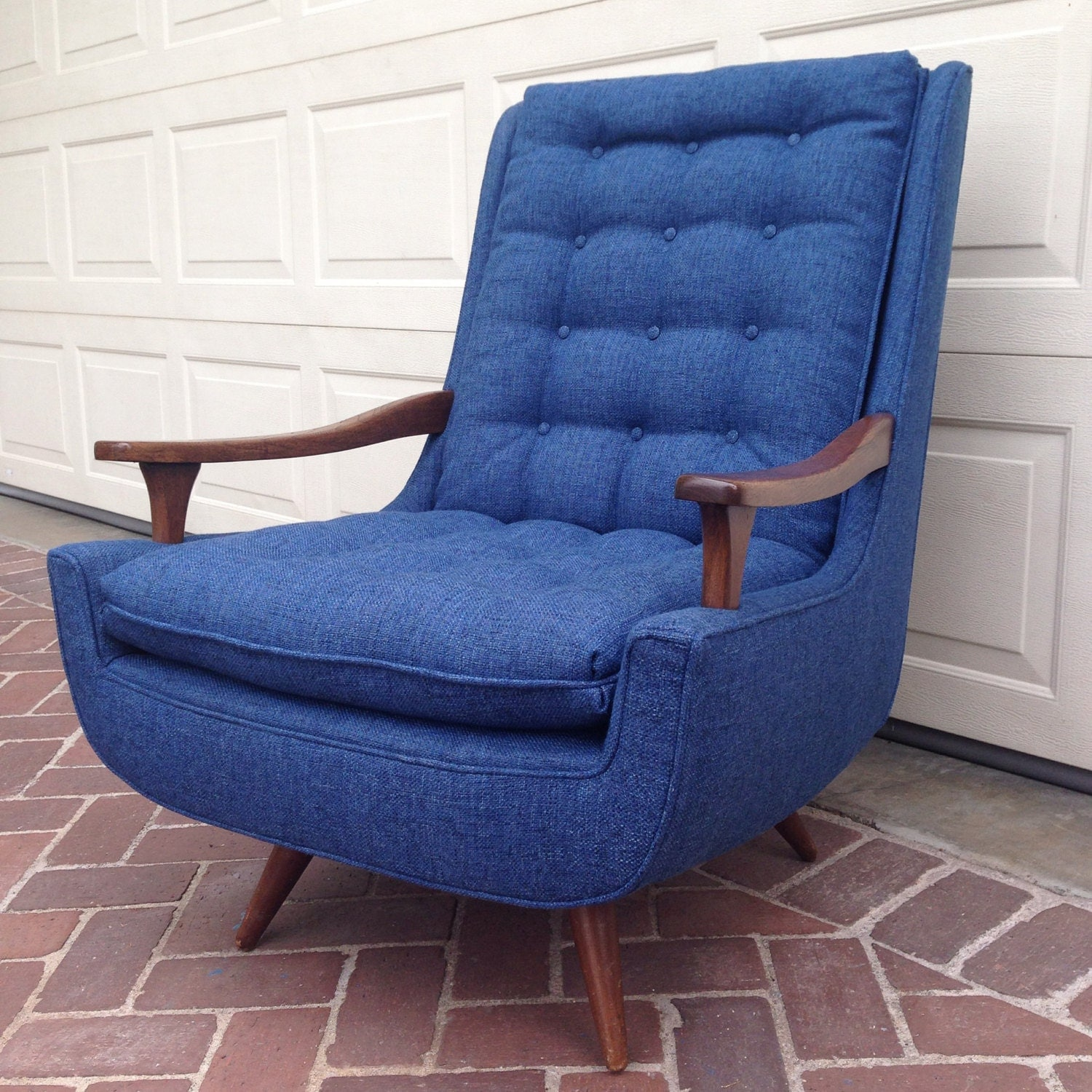 mid century modern swivel rocking lounge chair by eclecticabodela. Black Bedroom Furniture Sets. Home Design Ideas