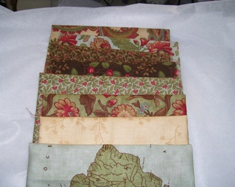 8 quilt fat quarters, Peace on Earth by Moda