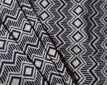 Chevron print cotton fabric Geometric print Black and white women's clothing Dresses Casual screen print fabric by yard quilt fabric