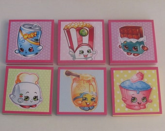 Shopkins Set #2  Note Pads Set of 6 - Excellent Party Favors - Shopkins Birthday - Shopkins Party Favors - Shopkins Mini Note Pads