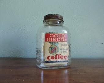 Gold Medal Coffee Jar - Advertising Jar