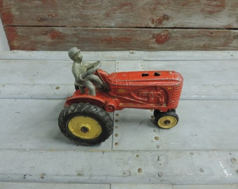 Red Tractor Toy Massey Harris #44