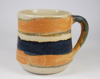 Stoneware Cup Ceramic cup Wheel thrown Handmade Pottery Mug Coffe Cup Ceramic cup with handle