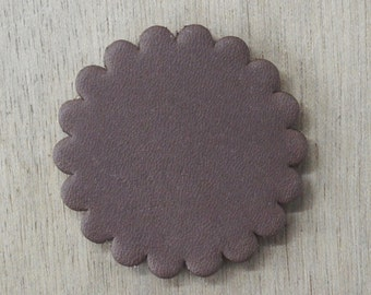 """12 pack - Thick Leather Concho Rosette 1 3/4"""" Concho leathercraft Brown -70063"""