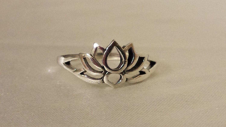lotus ring sterling silver lotus ring lotus flower