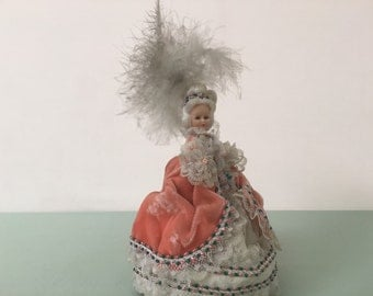 Vintage Marie Antoinette Doll and Music Box