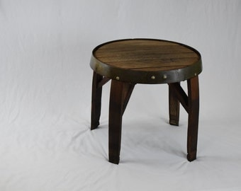 Pub Table And Chairs From Reclaimed Wine Barrels By Otterbrook