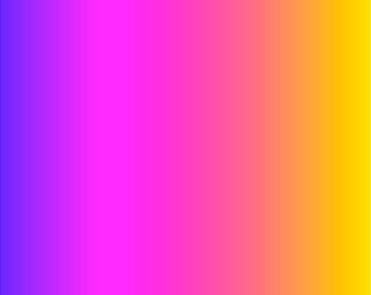 Purple, pink and yellow Ombre print craft  vinyl sheet - HTV or Adhesive Vinyl -  fade gradient print vinyl  HTV3106