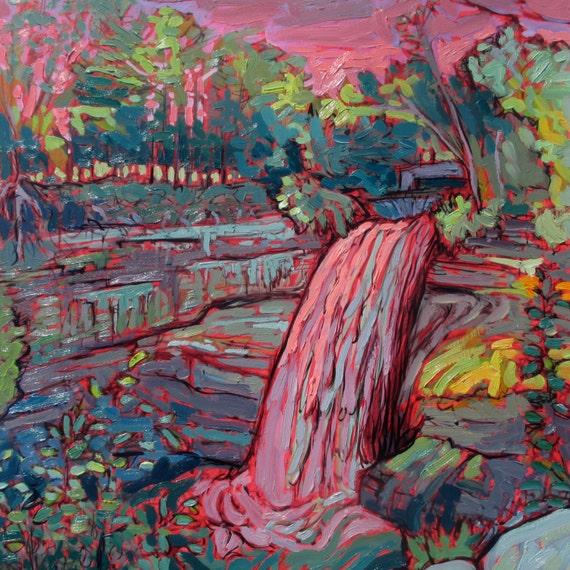 Minneapolis Painters: Minnehaha Falls Original Painting Minneapolis By Brendonfarley