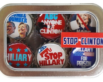 STOP CLINTON magnet six-pack