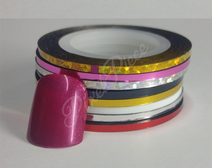 Extra Thick Nail Striping Tape Black White Gold Silver Pink Red