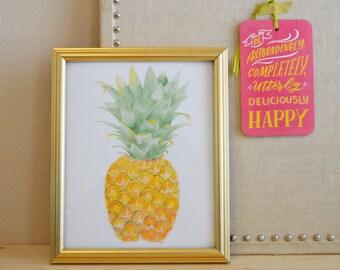 Pineapple Art Print - Pineapple Wall Art - Watercolor Pineapple Art Print - Pineapple Wall Decor
