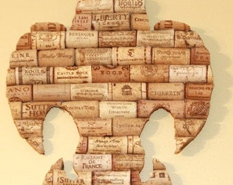 Fleur De Lis Wine Cork Wall Art Set