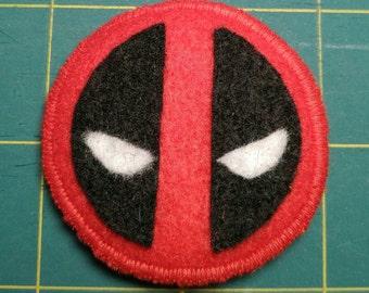 Deadpool Logo Badge Pin Button Patch