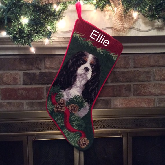 Cavalier King Charles Needlepoint Christmas Stockings