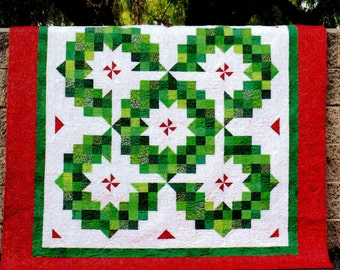 """RING OF WREATHS   A Strip Club Quilt Pattern For 2-1/2"""" Strips     By: Cozy Quilt Designs"""