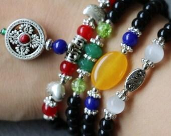 Beautiful Multi Stone Bracelet or Necklace