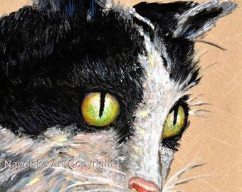 "Fine Art Print  ""Taby Cat""   Print by Napolske Art Painting"