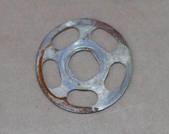 Antique metal meat mincer attachment for a Spong 701 grinder. Spong 701 Mincer.