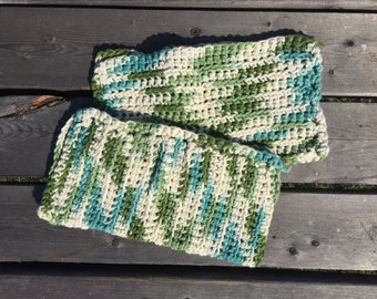 Multi-Coloered Crocheted Dishcloth Set