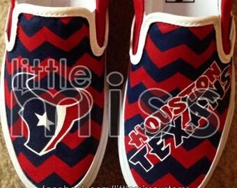 Houston Texans Hand Painted Vans
