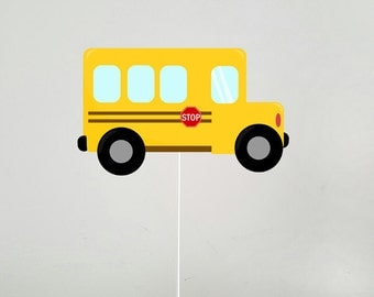School Bus Cake Topper (11516235A)