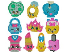 SHOPKINS 2 - Machine Embroidery - 10 Patterns in 3 Sizes - Instant Digital Download