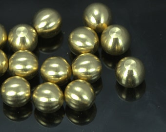 25 pcs 8 mm raw solid brass sphere