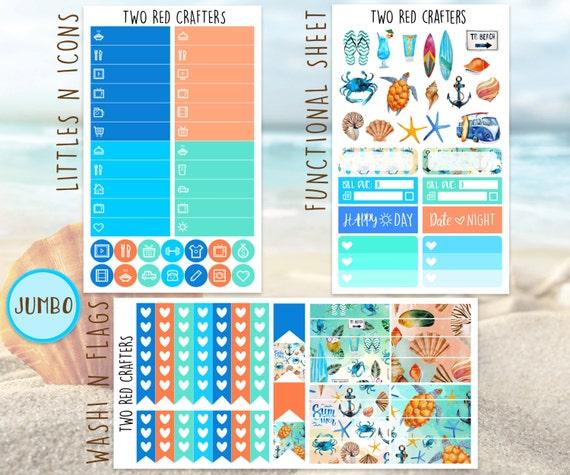 Nautical Summer Weekly Planner Sticker Kit for Erin ...