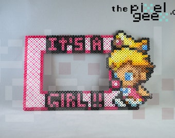 It's a Girl Princess Peach 4x6 Picture Frame