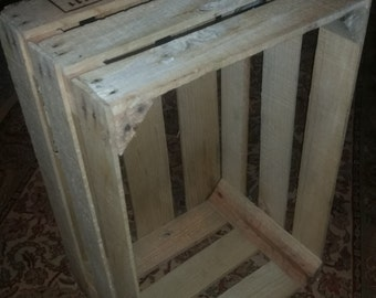 Rustic Unfinished Wood Crate